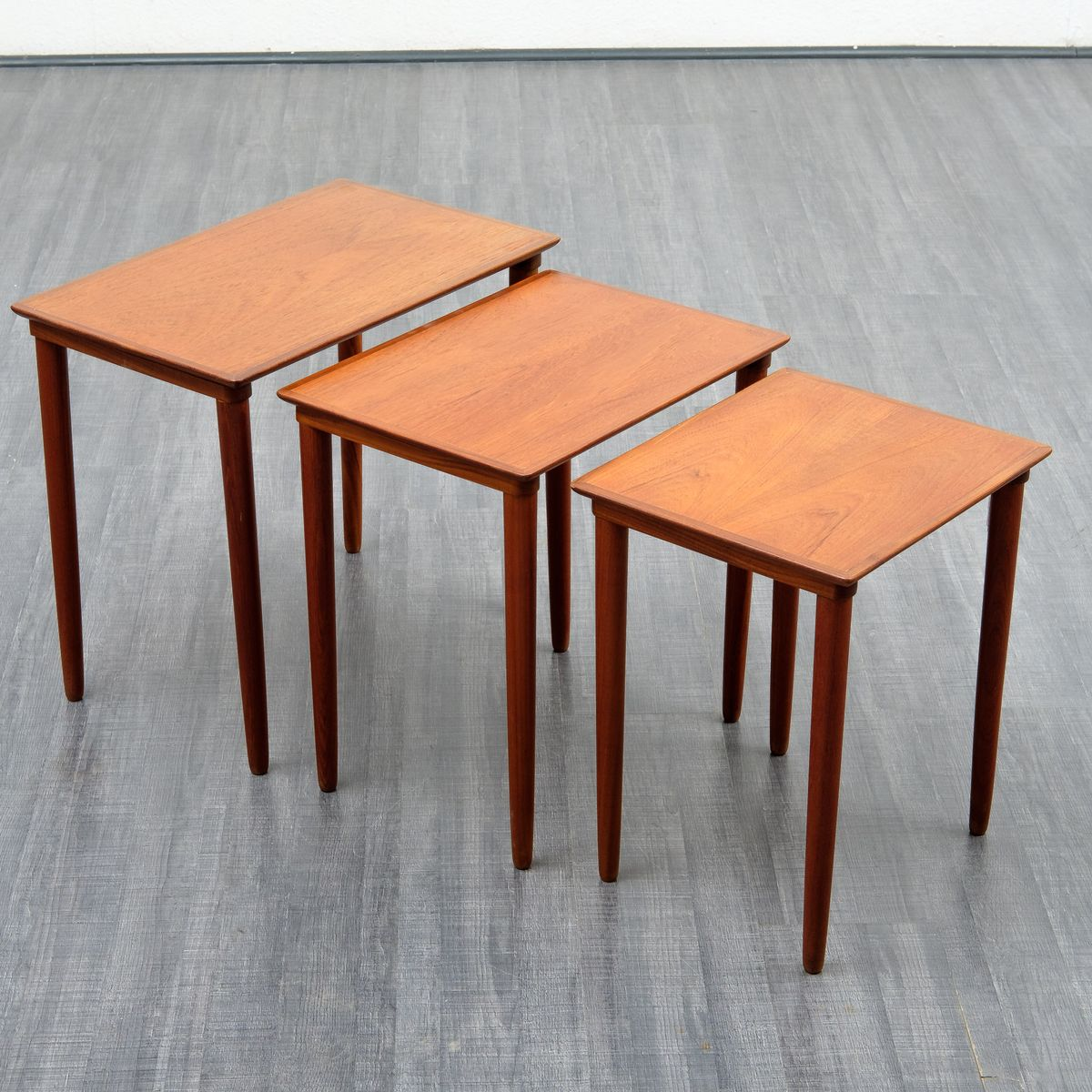 Teak Coffee Table South Africa: Teak Nesting Tables, 1960s For Sale At Pamono