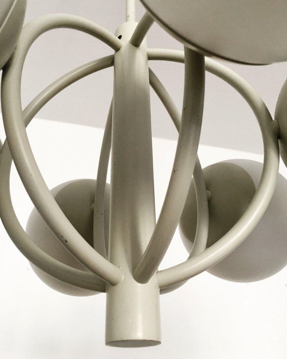 sputnik opaline glass chandelier from kaiser leuchten. Black Bedroom Furniture Sets. Home Design Ideas