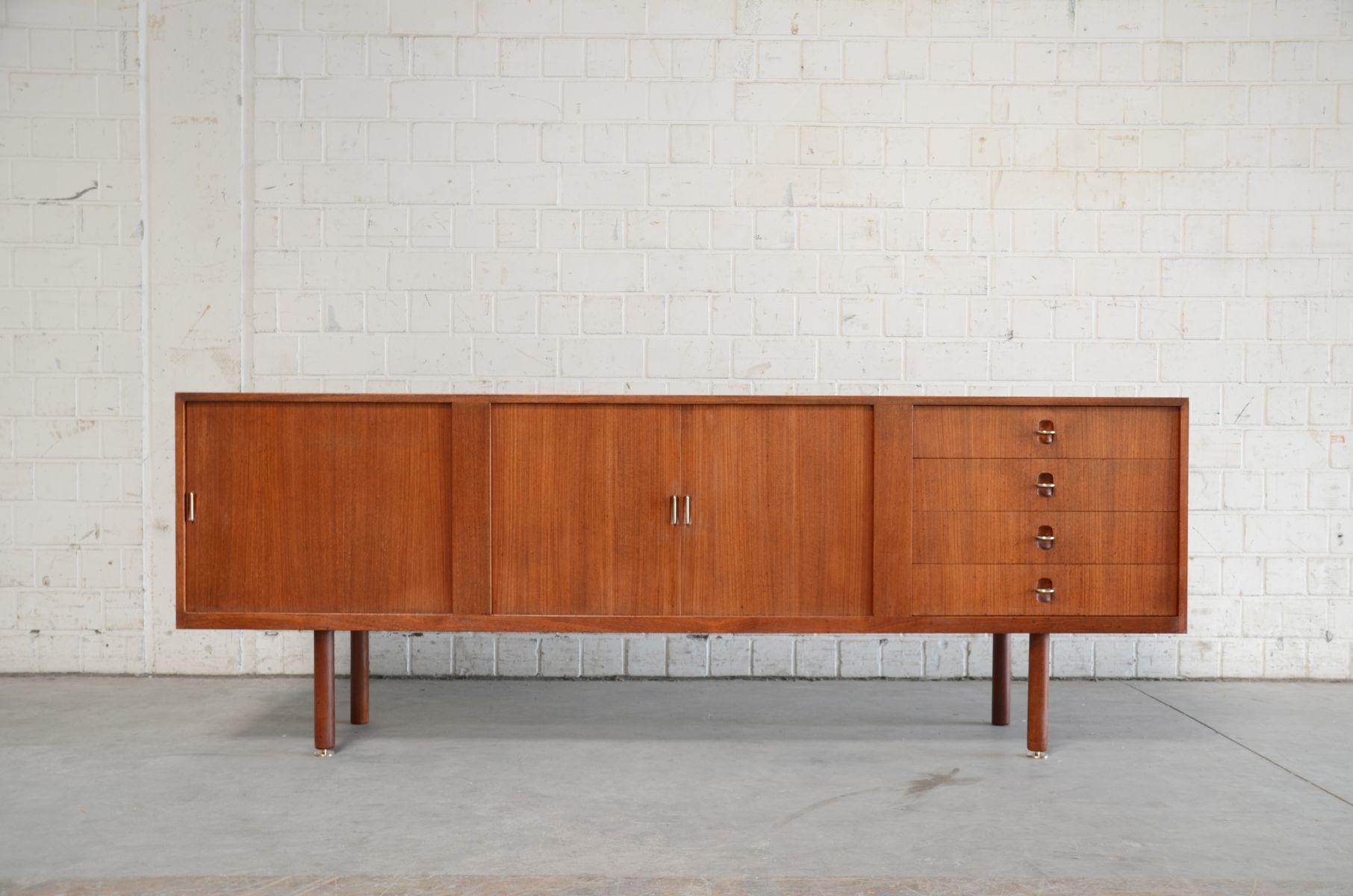 D nisches vintage sideboard aus teak messing mit for Sideboard danisches design