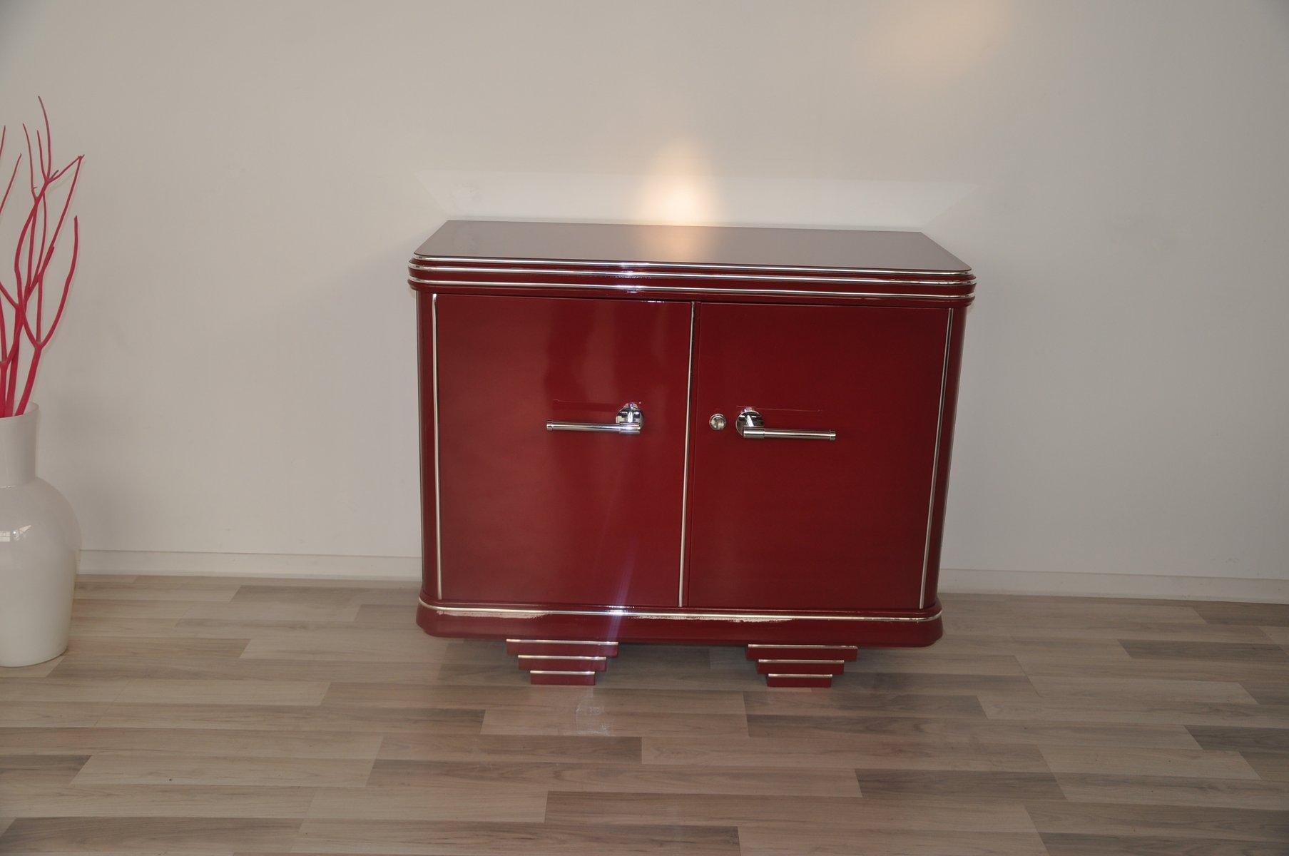 Rote Vintage Kommode, 1920er