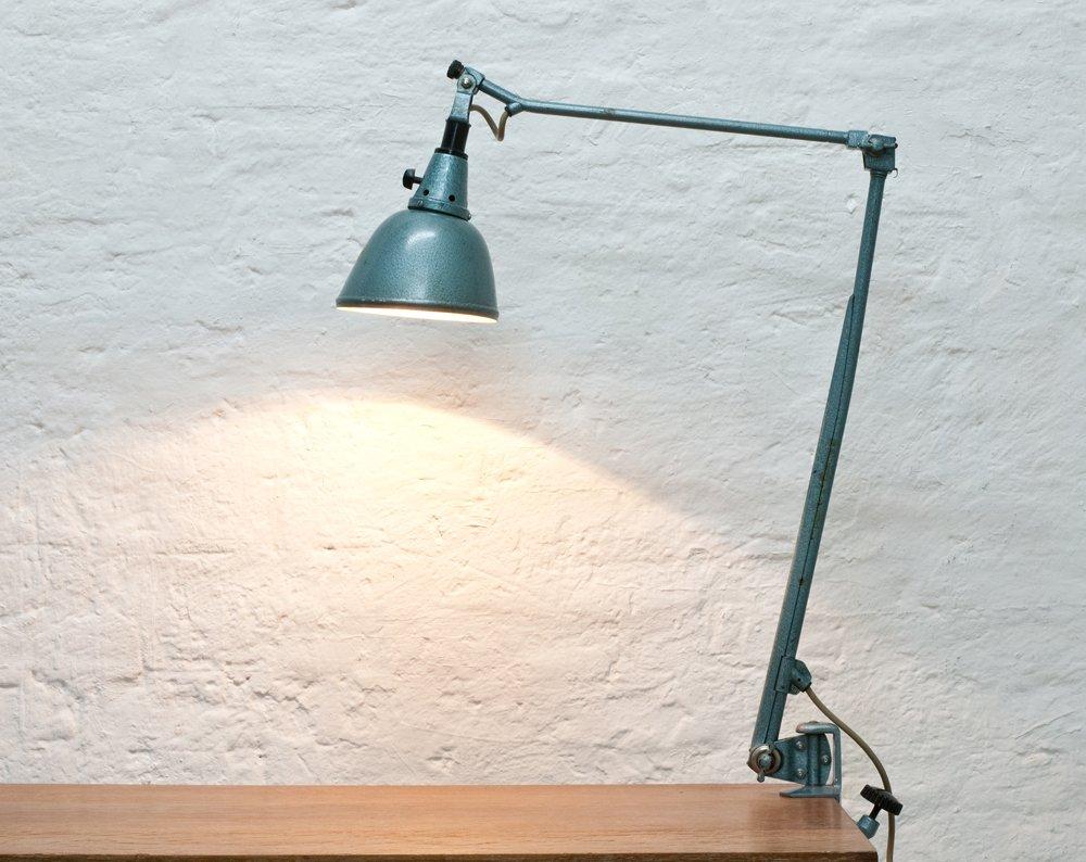 lampe de bureau pince par curt fischer pour industriewerke auma 1930s en vente sur pamono. Black Bedroom Furniture Sets. Home Design Ideas
