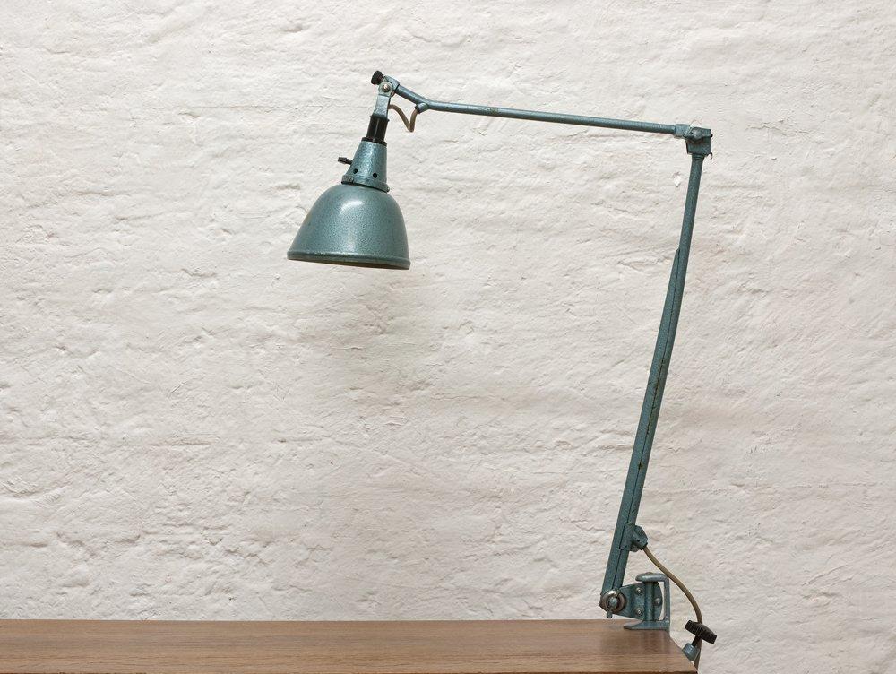 Klemm- Schreibtischlampe von Curt Fischer für Industriewerke Auma, 193...
