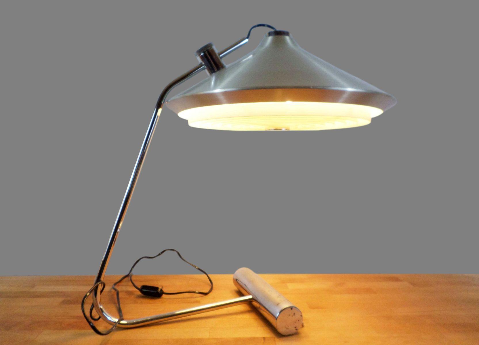 Große Chrom Lampe mit Gegengewicht, 1970er
