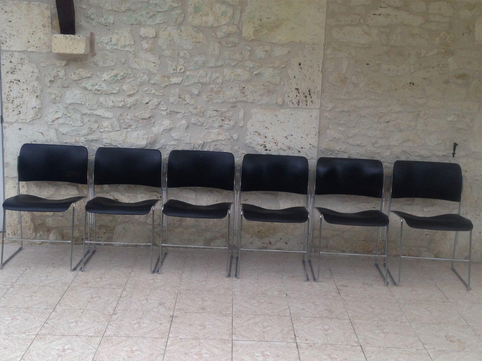 Vintage 40/4 Stühle von David Rowland, 1960er, ...