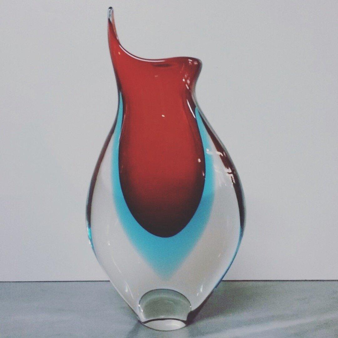 Vintage murano glasvase 1960er bei pamono kaufen - Glasvase vintage ...
