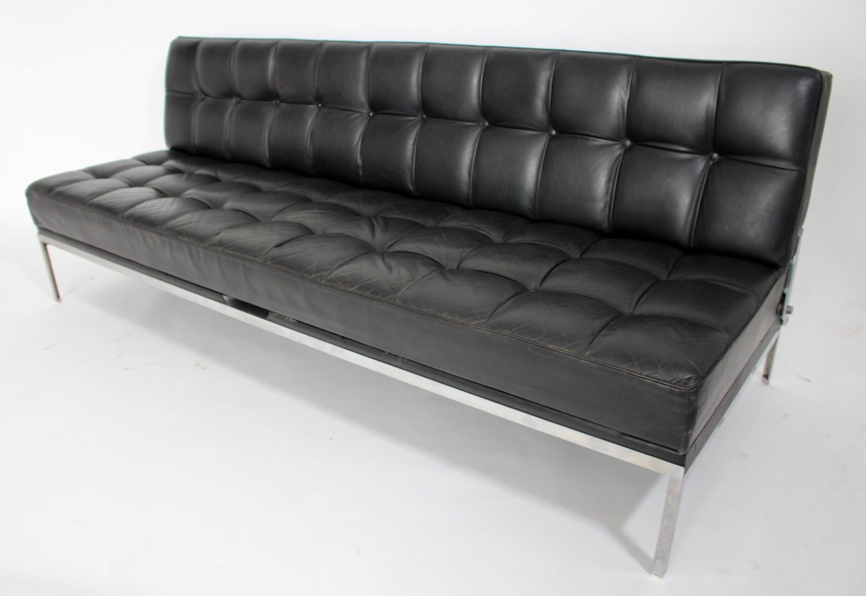 schwarzes constanze schlafsofa aus leder von johannes spalt f r wittmann 1960er bei pamono kaufen. Black Bedroom Furniture Sets. Home Design Ideas