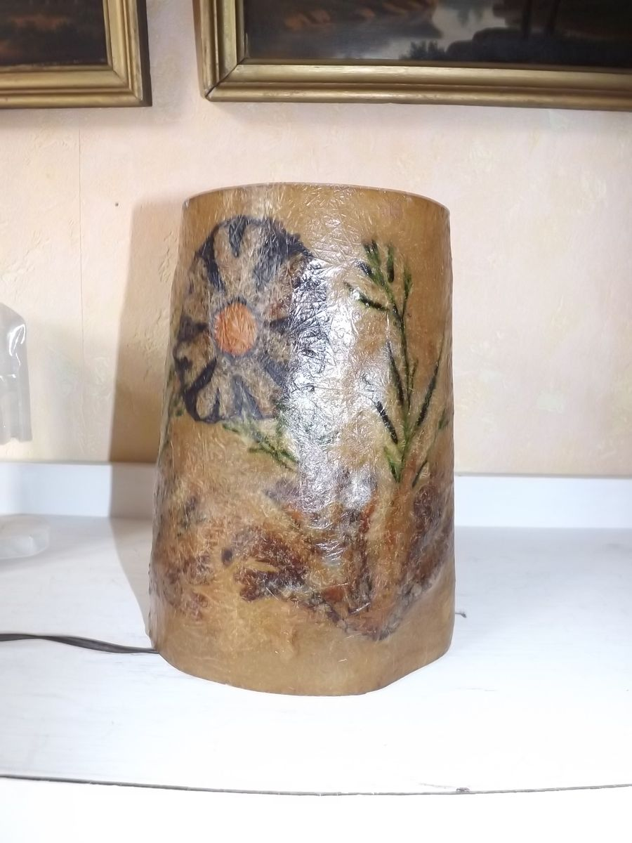Vintage Harzlampe mit Kräutern & Blumen von Accolay
