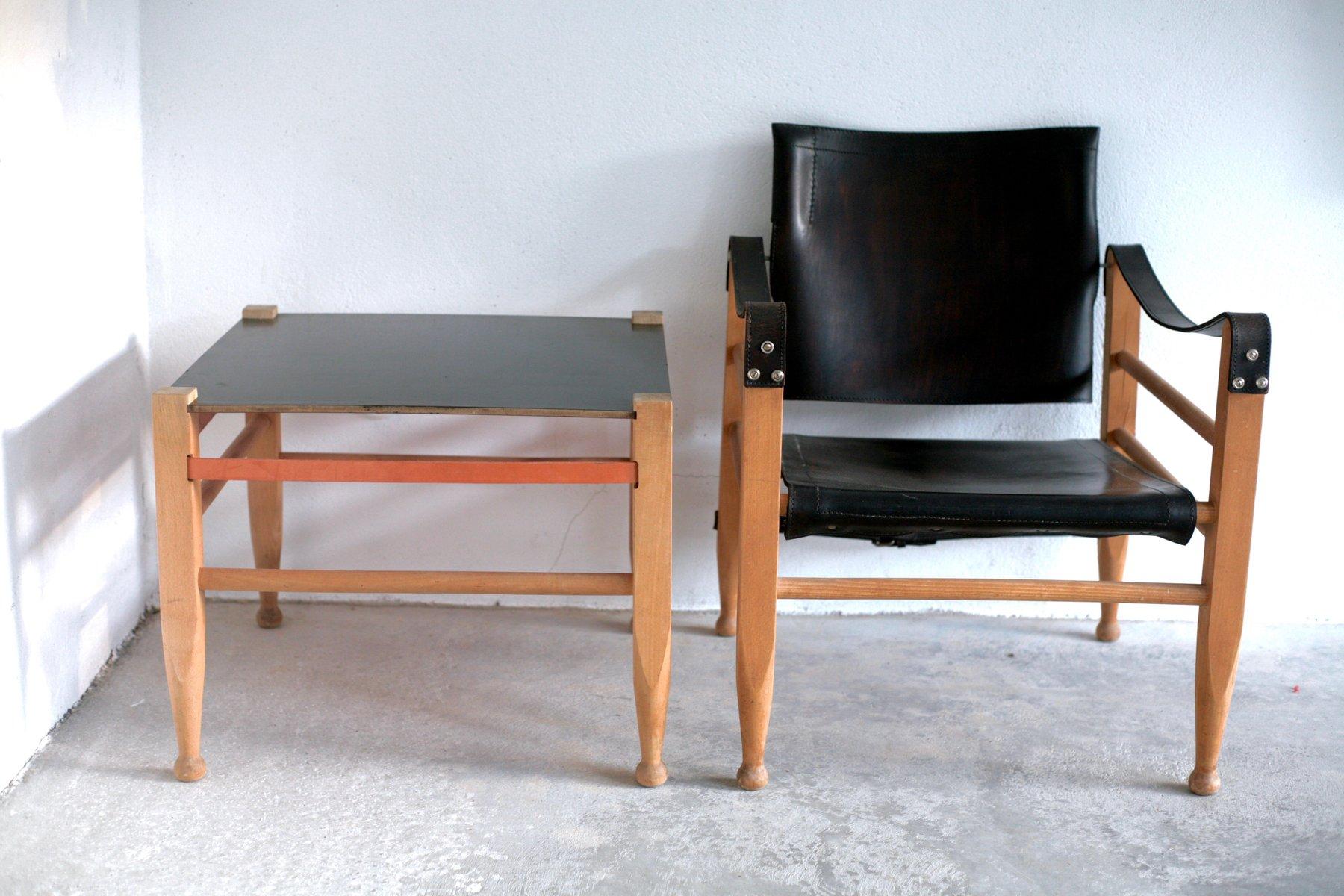 safari sessel tisch set von b rge mogensen f r fredericia bei pamono kaufen. Black Bedroom Furniture Sets. Home Design Ideas
