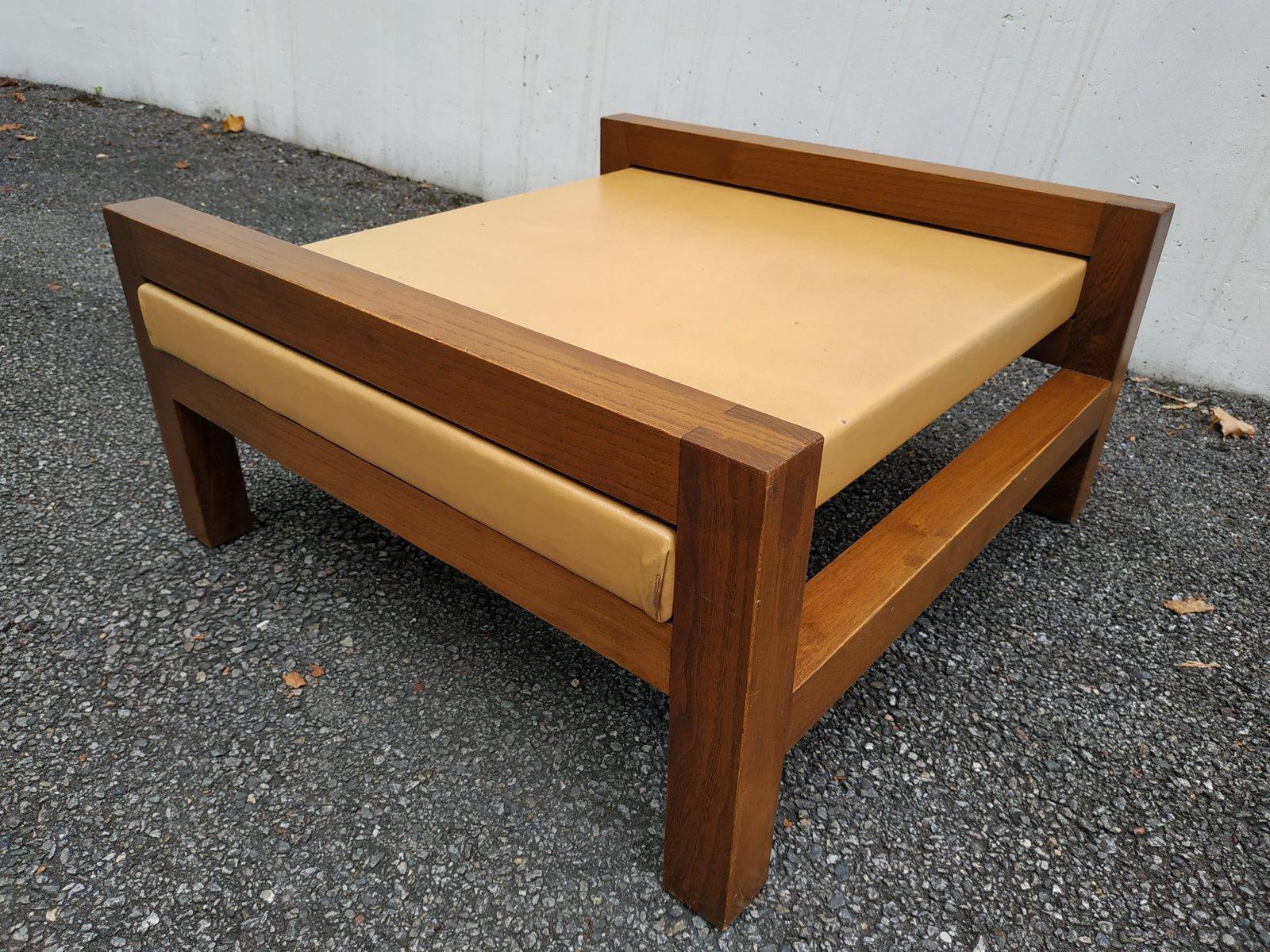 couchtisch aus holz kunstleder 1950er bei pamono kaufen. Black Bedroom Furniture Sets. Home Design Ideas