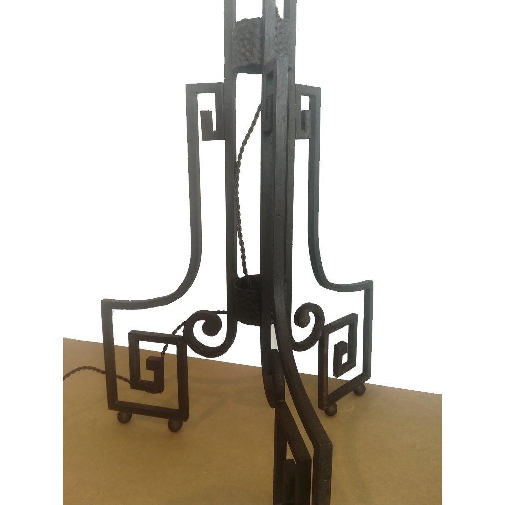 art deco stehlampe aus gusseisen bei pamono kaufen. Black Bedroom Furniture Sets. Home Design Ideas