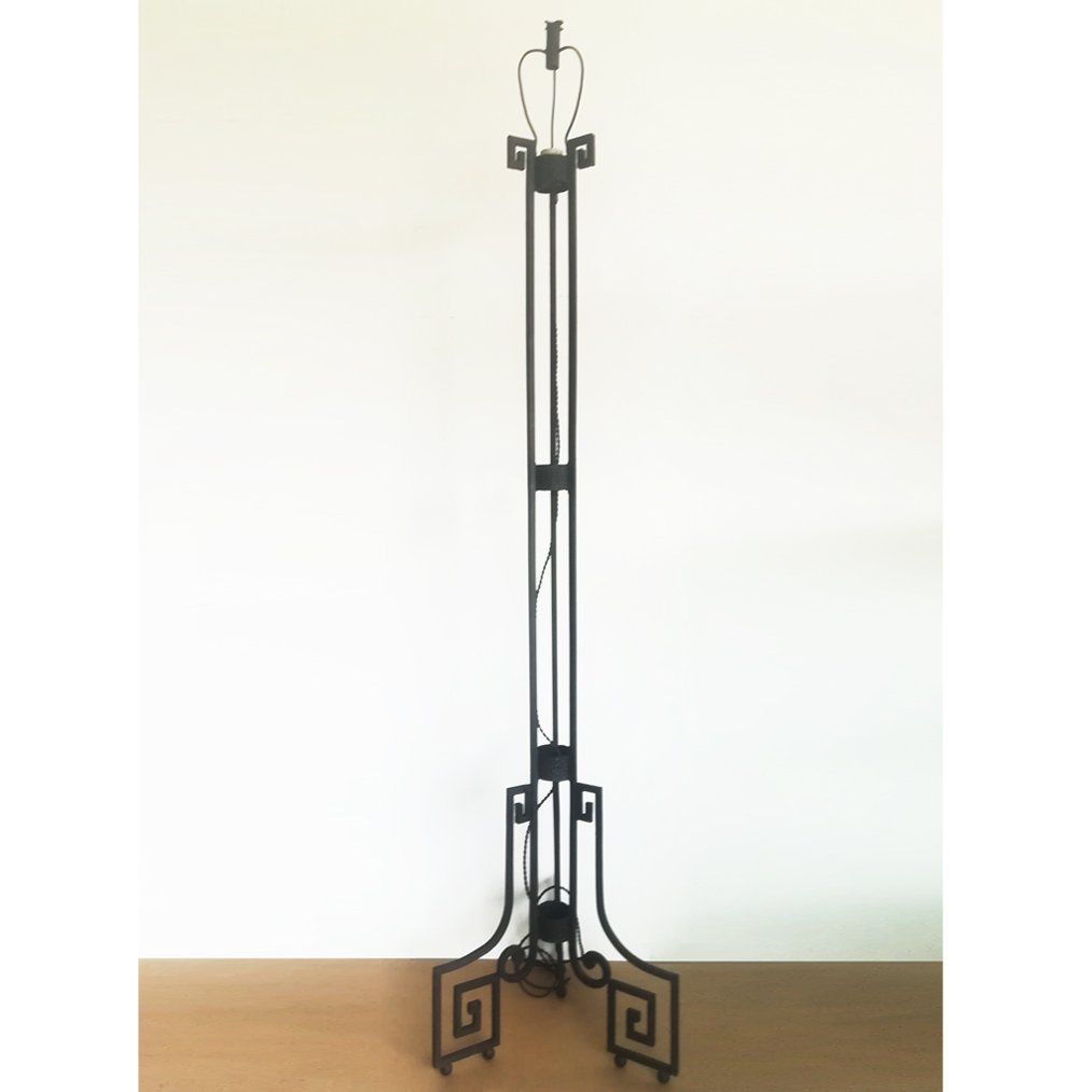 Art Deco Stehlampe aus Gusseisen