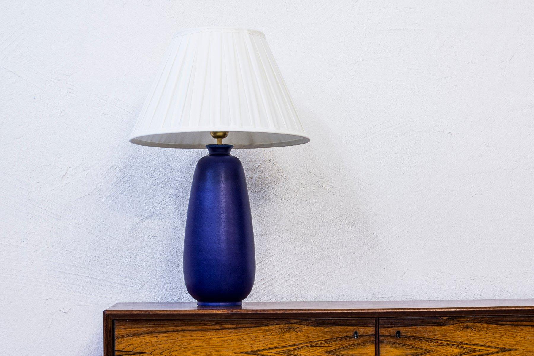 Große Tischlampe aus Steingut von Erich & Ingrid Triller für Tobo, 195...