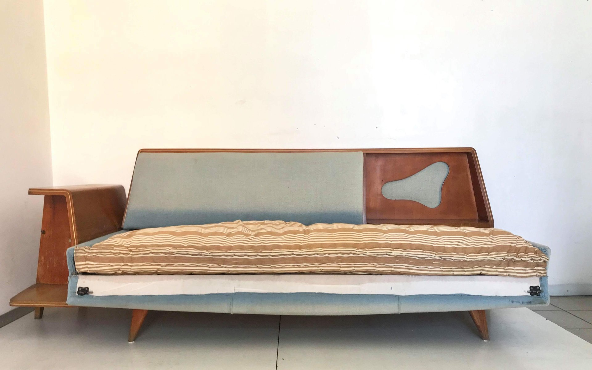 Sofa Bed With Storage Compartment 1960s