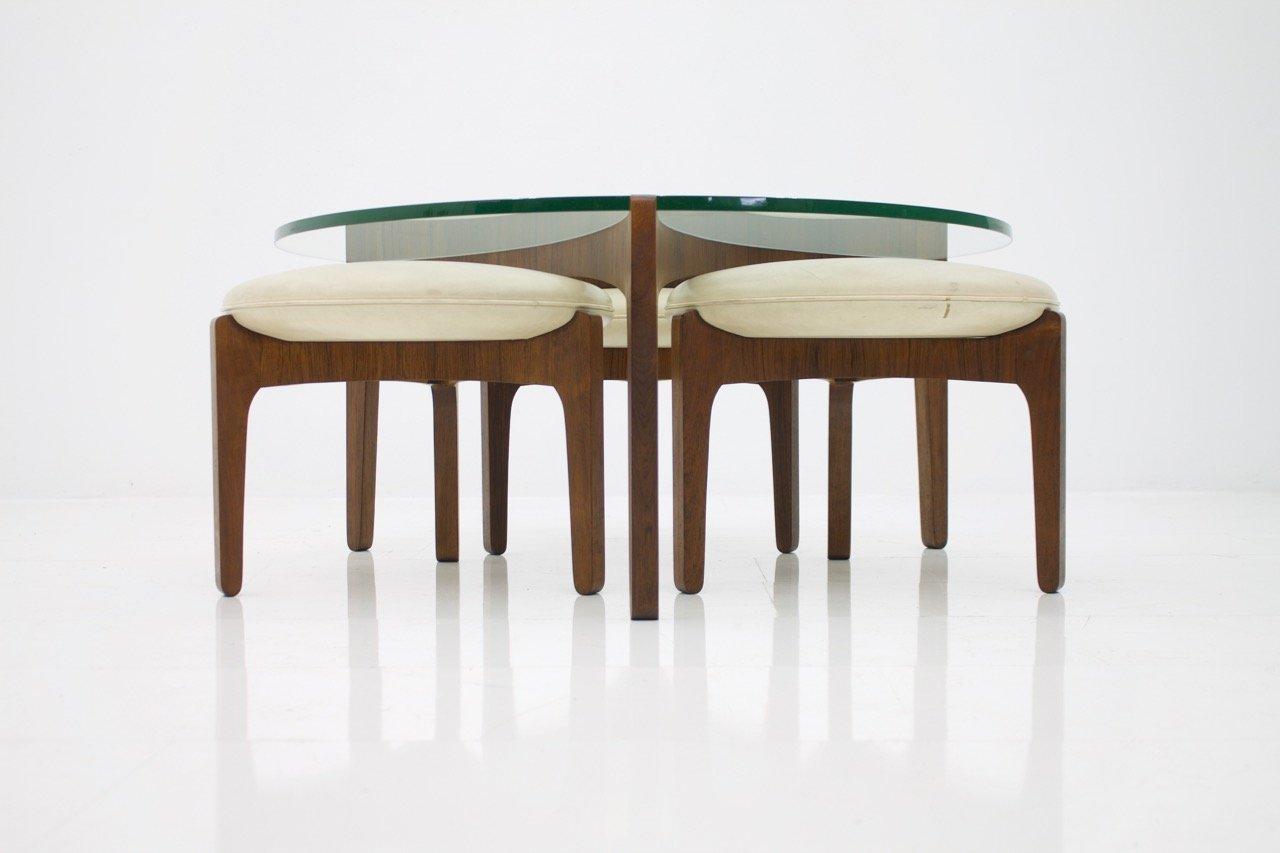 table basse 3 pieds 3 tabourets vintage par sven ellekaer pour christian linneberg en vente. Black Bedroom Furniture Sets. Home Design Ideas