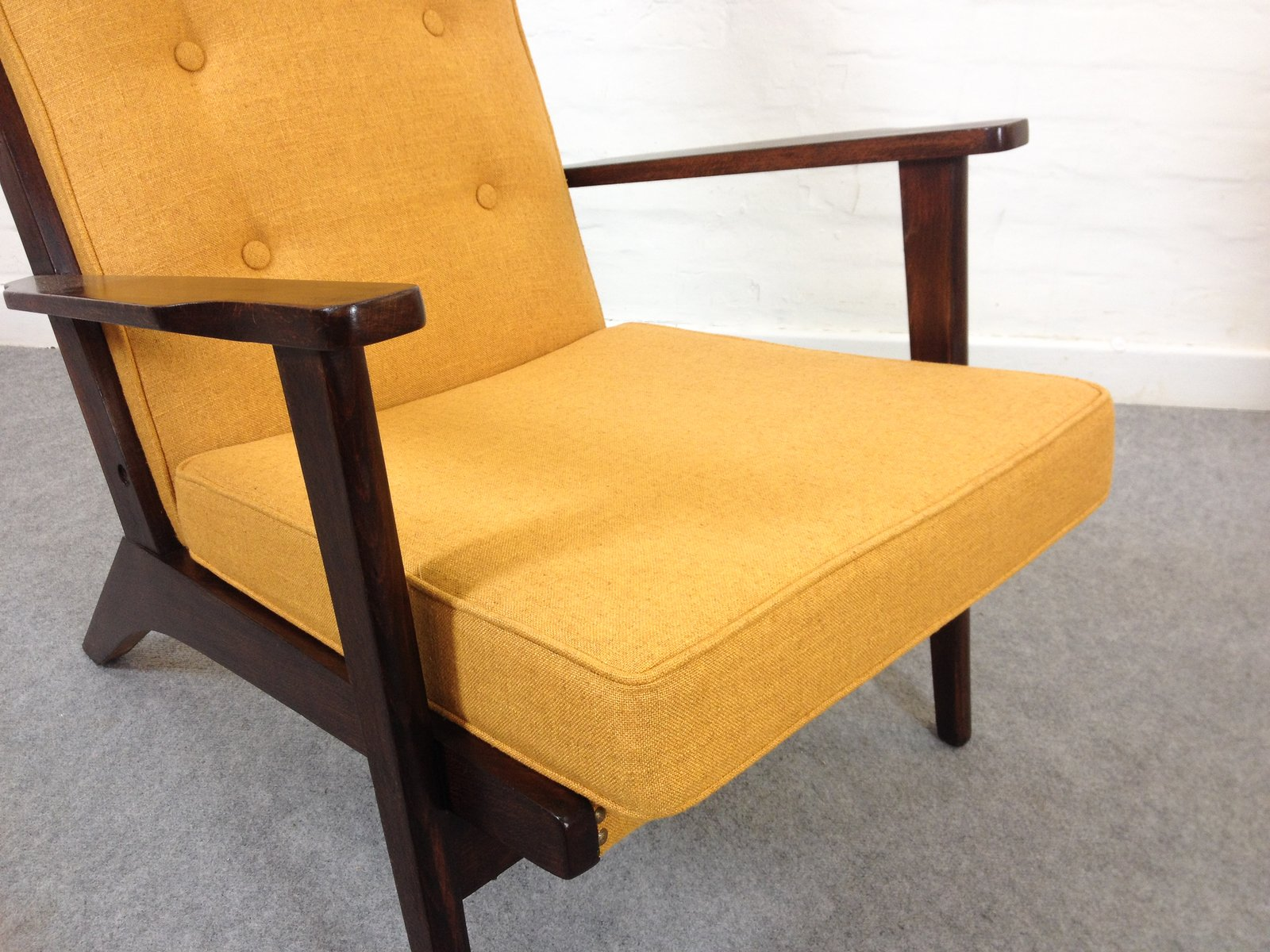 Mustard yellow furniture Yellow Decor Price Per Set Pamono Midcentury Mustard Yellow Lounge Chairs From Parker Knoll 1950s