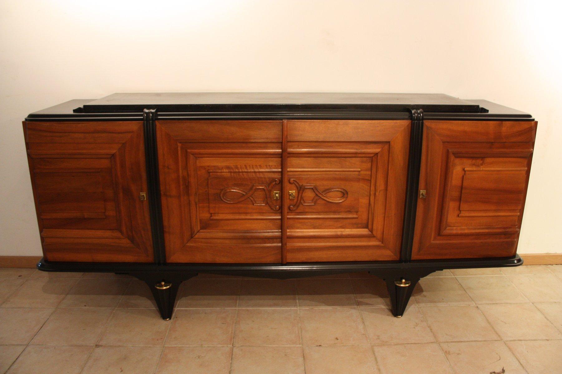 Credenza Art Deco in noce, anni \'40 in vendita su Pamono