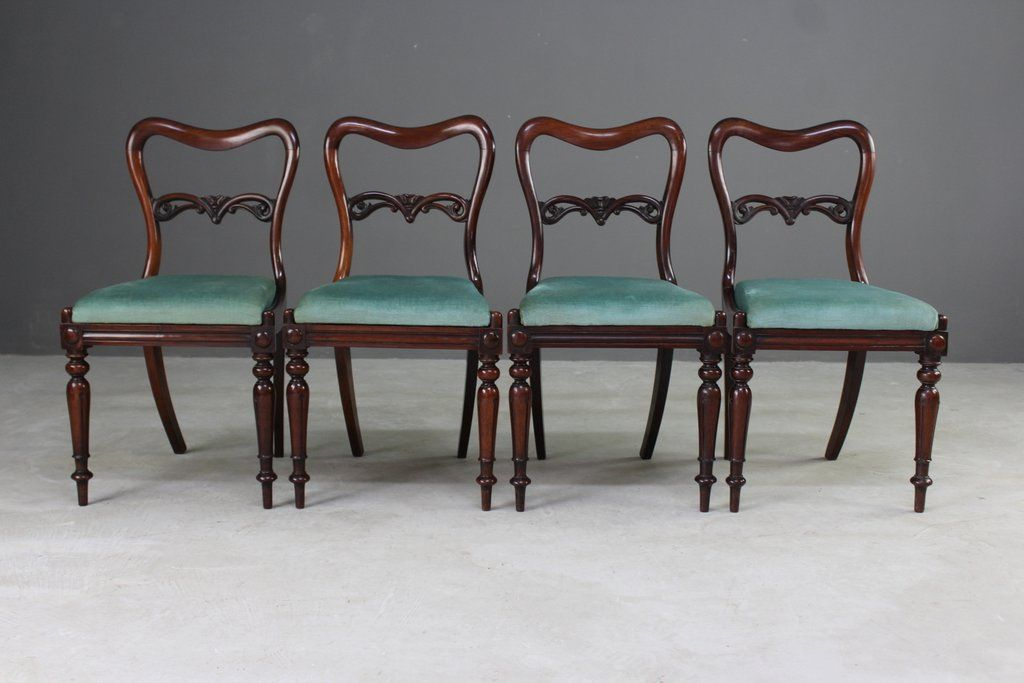 Antique Rosewood Dining Chairs, Set or 4 - Antique Rosewood Dining Chairs, Set Or 4 For Sale At Pamono