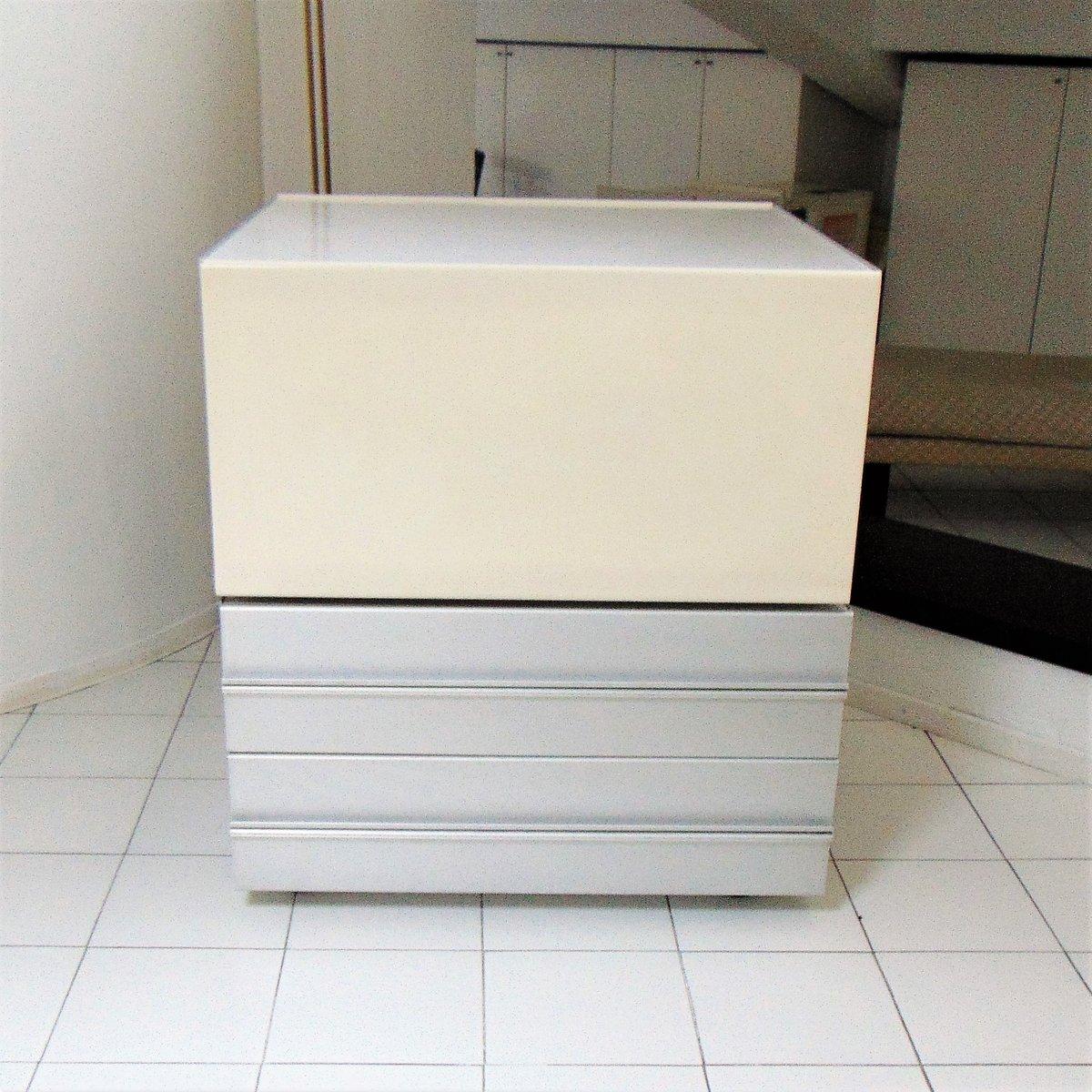 Mobile bar in alluminio e legno laccato bianco di Claudio Salocchi ...
