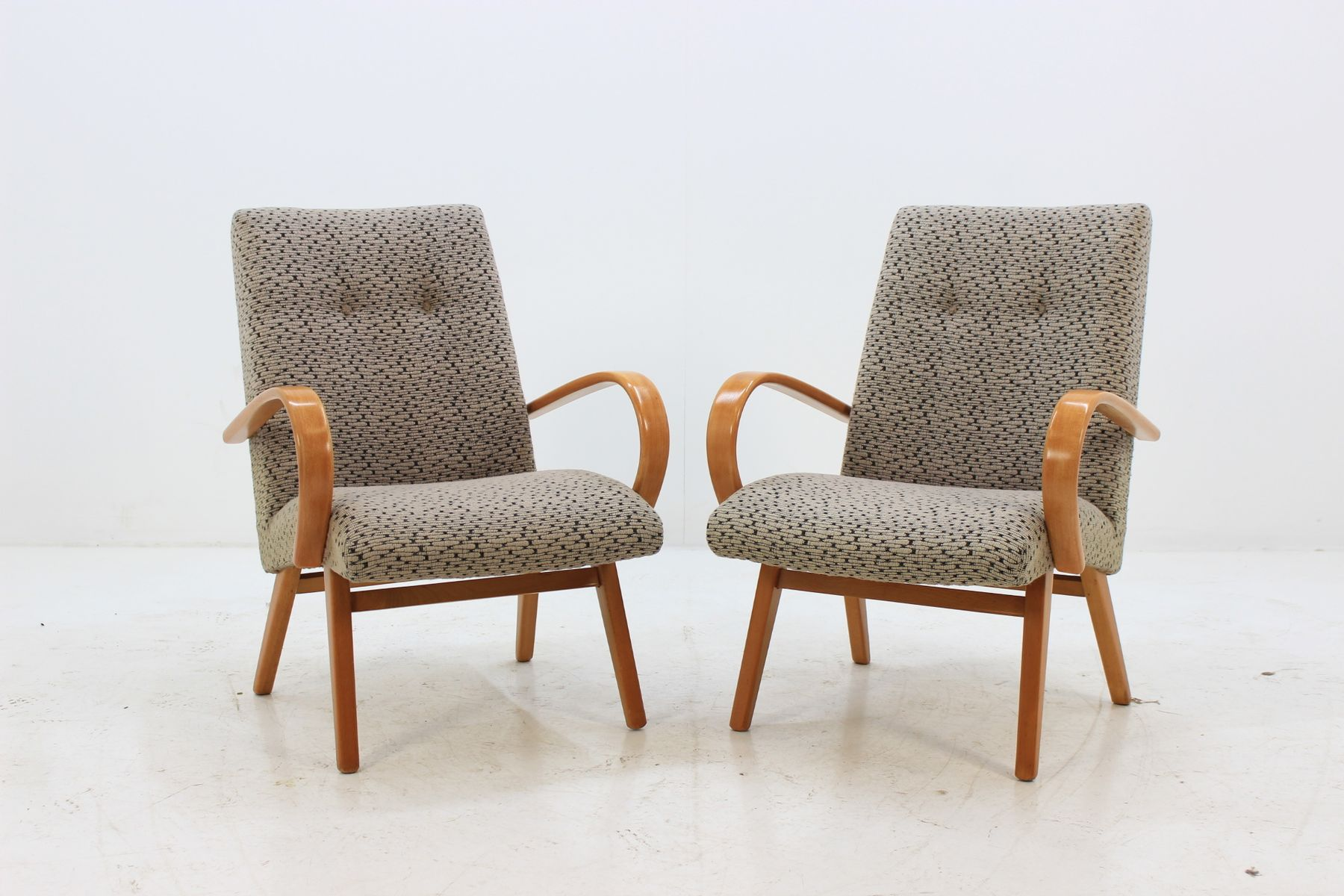 Bentwood Lounges Chair From Jitona, 1960s, Set Of 2