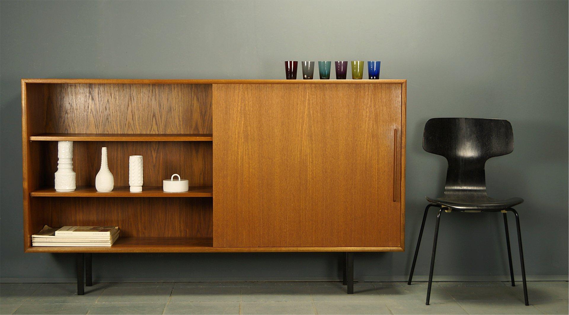 teak sideboard from wk m bel 1960s for sale at pamono. Black Bedroom Furniture Sets. Home Design Ideas