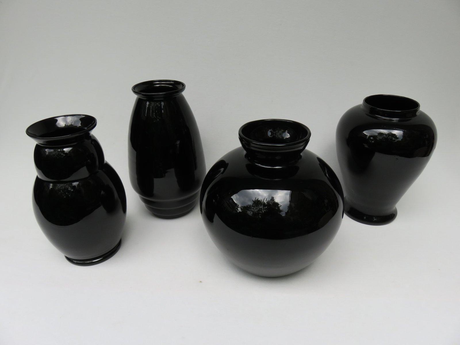 VTG Black /& White Vase