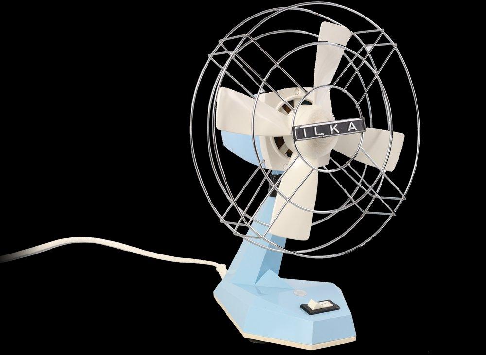 Kleiner deutscher DDR Ventilator von ILKA, 1970er | Baumarkt > Heizung und Klima > Ventilatoren | Blau | Kunststoff