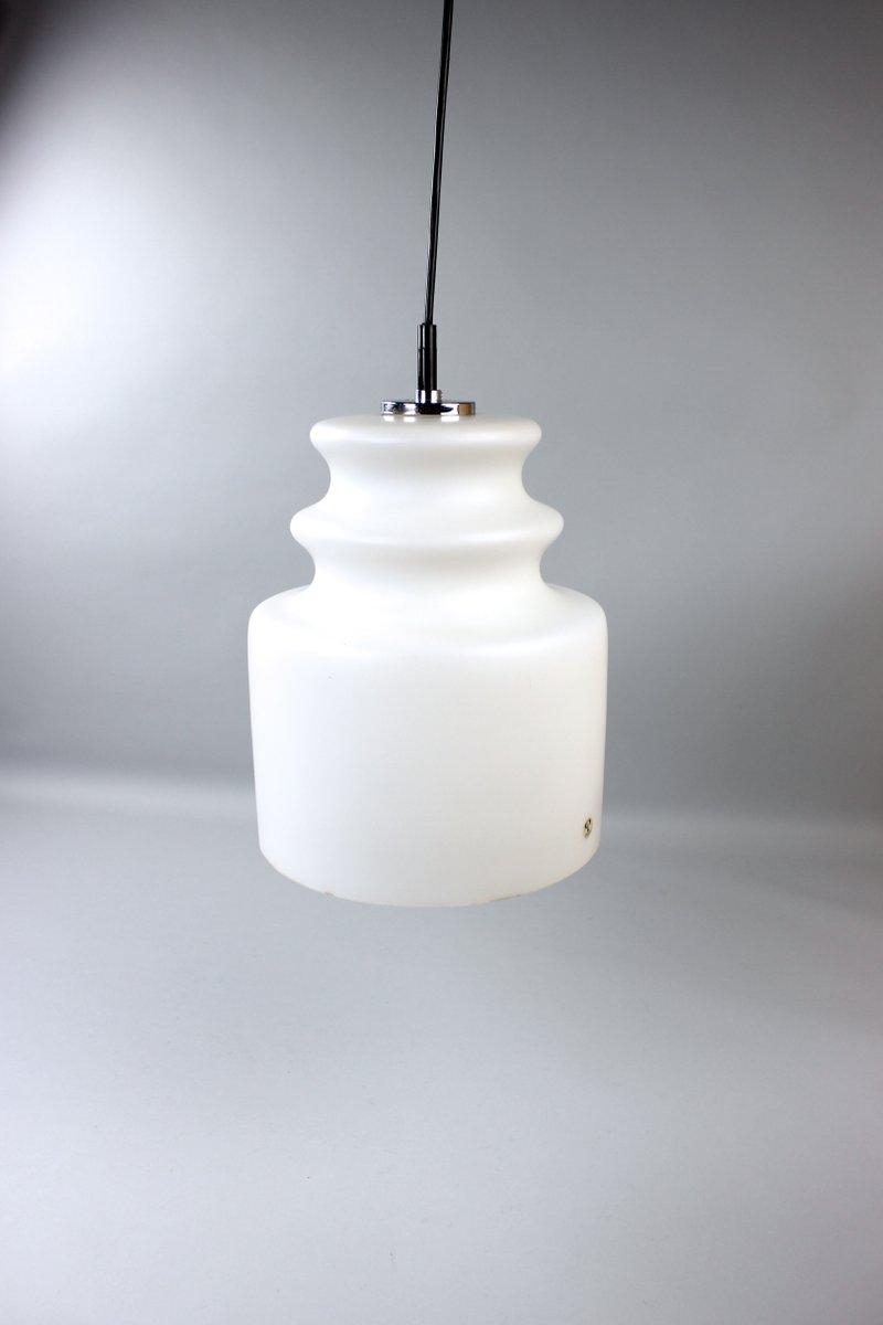Weiße Opalglas Deckenlampe von Peill & Putzler, 1970er