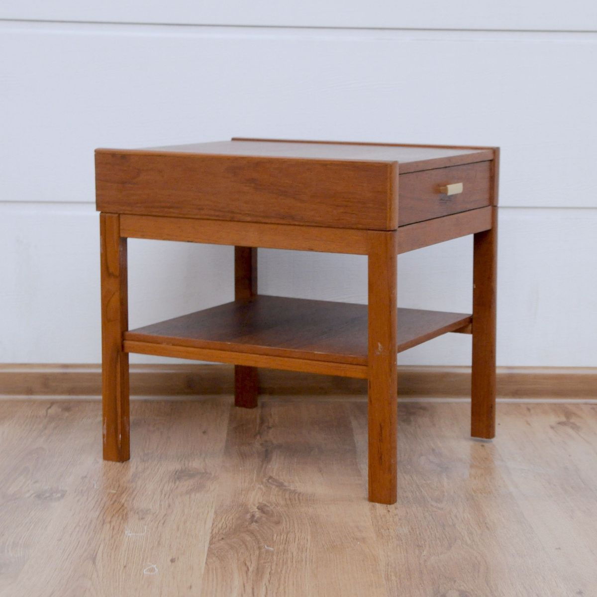 Small Vintage Danish Teak Side Table For Sale At Pamono - Teak side table with drawer