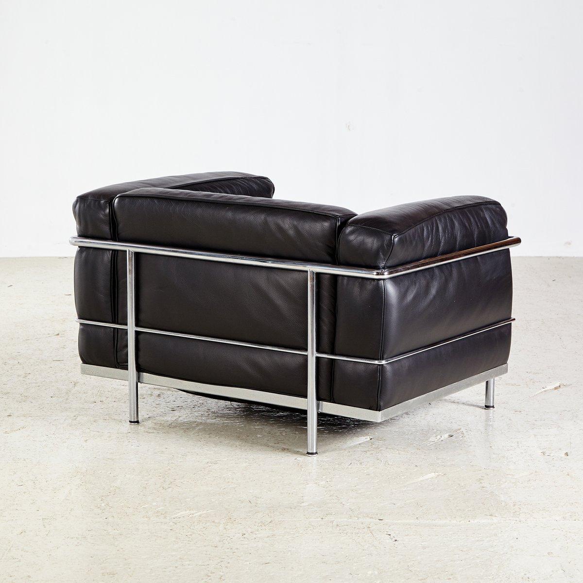 Poltrona LC3 vintage di Le Corbusier per Cassina in vendita su Pamono
