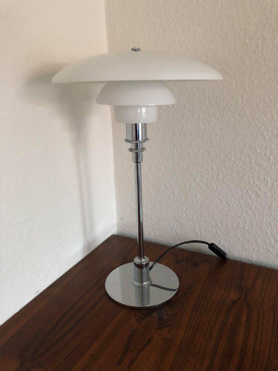 Vintage PH 3/2 Chrom & Glas Tischlampe von Poul Henningsen
