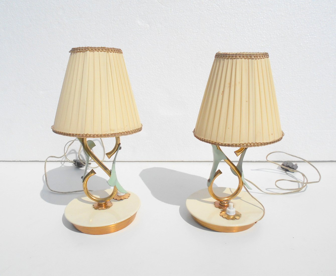 Small Table Lamps By Angelo Lelii For Arredoluce 1940s Set Of 2 For Sale At Pamono