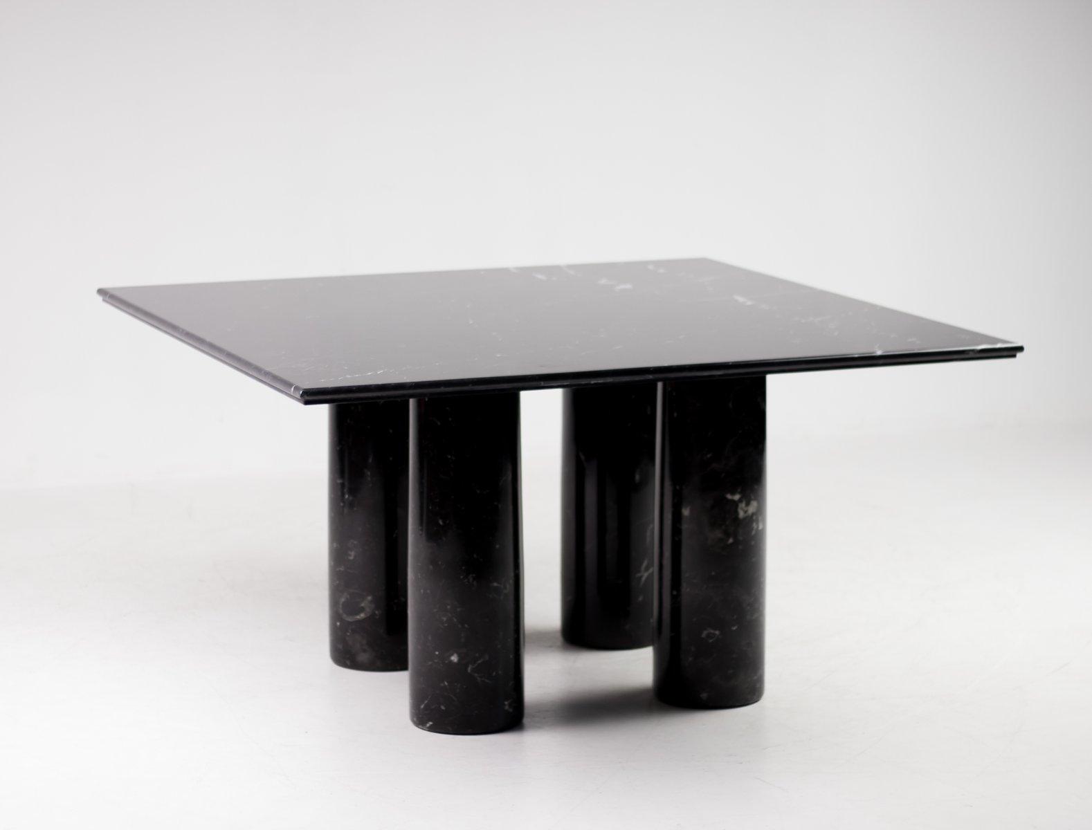 Schwarzer marmor tisch von mario bellini f r cassina 1982 for Schwarzer tisch