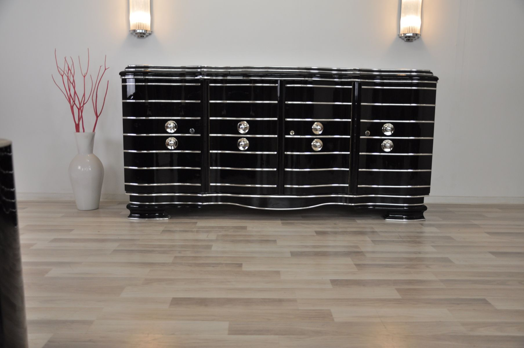Art Deco Chrom Sideboard, 1920er