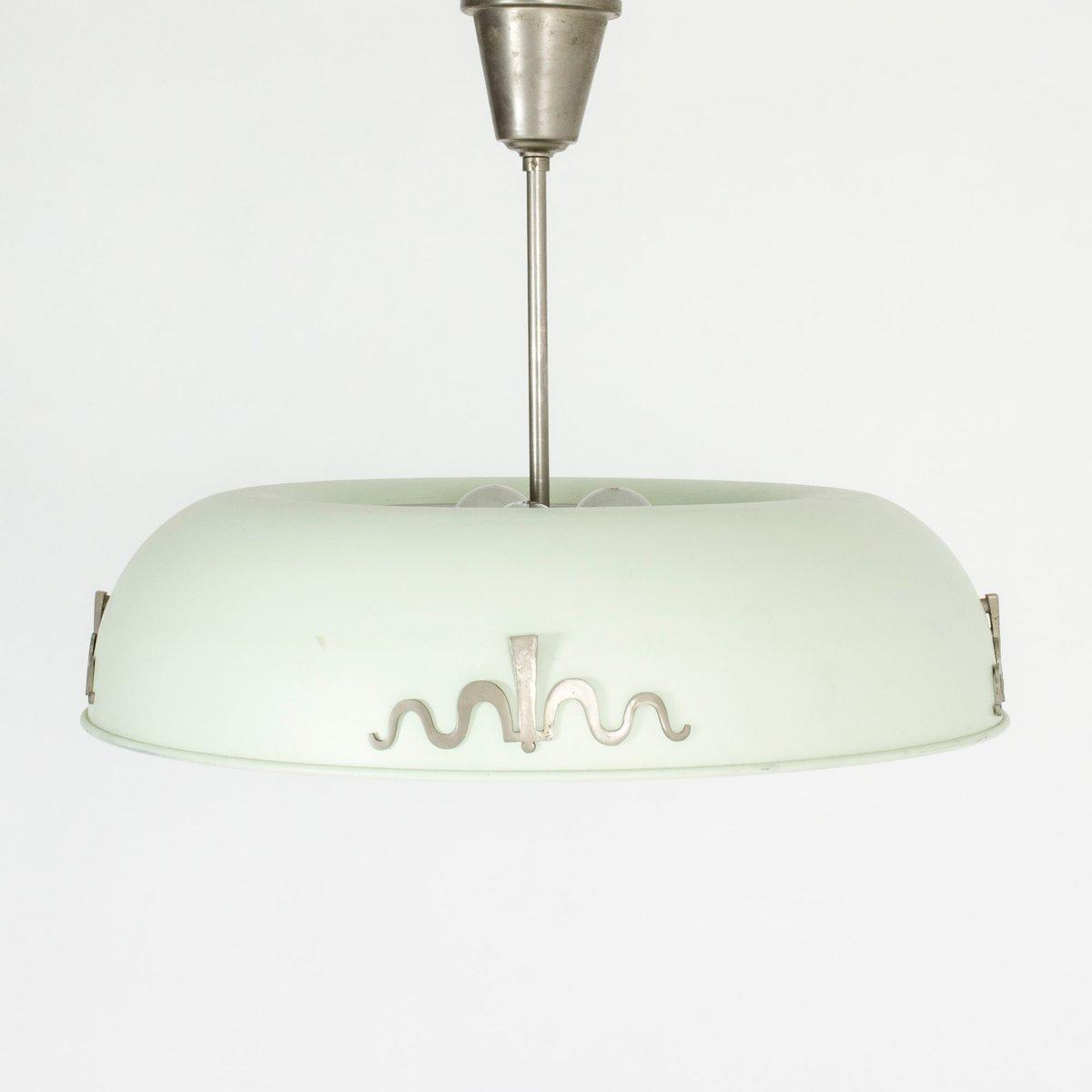 Deckenlampe von Bo Notini für Böhlmarks, 1930er