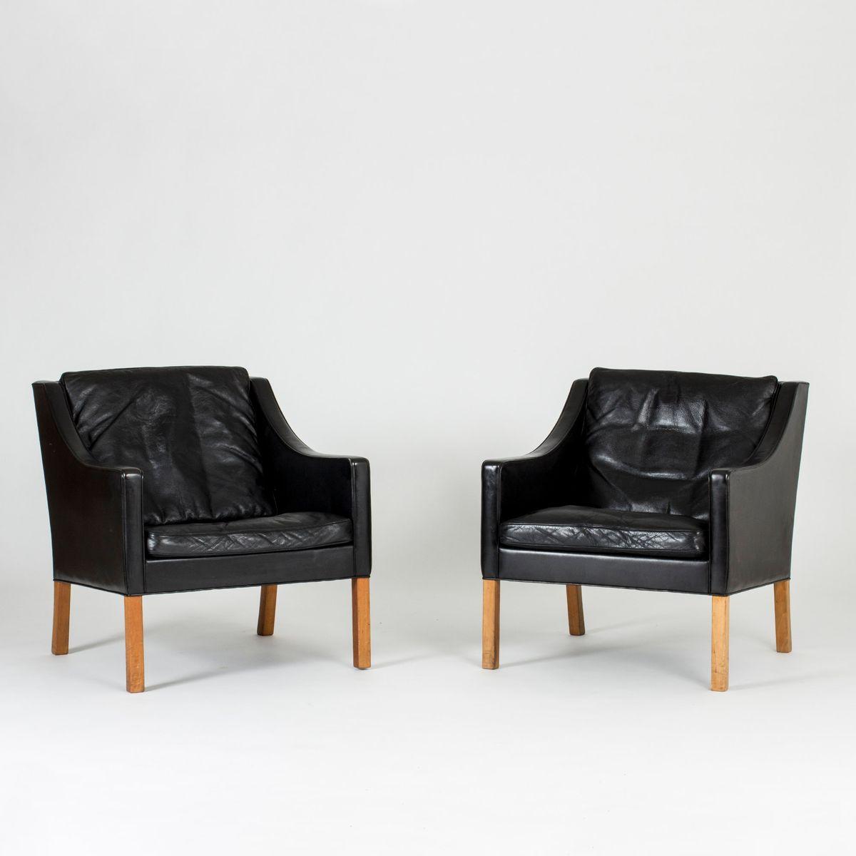 Mid-Century 2207 Sessel von Børge Mogensen für Fredericia, 2er Set