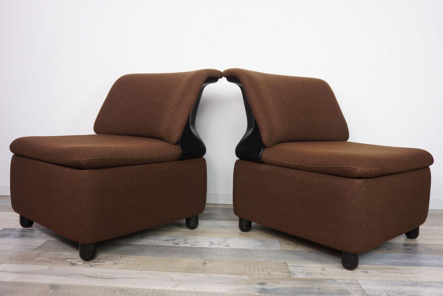 Französische Vintage Sessel, 2er Set