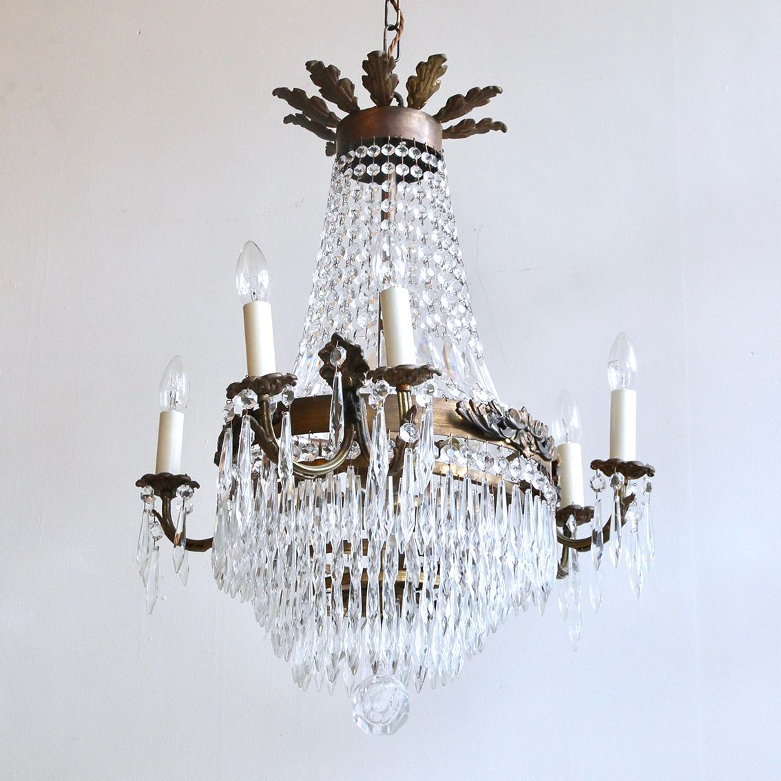 Vintage french tiered and branch chandelier for sale at pamono vintage french tiered and branch chandelier aloadofball Image collections