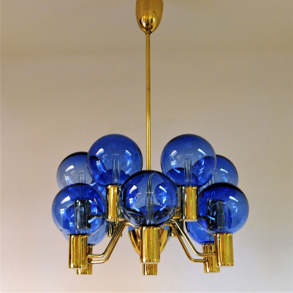 Model t37212 patricia chandelier with blue glass by hans agne model t37212 patricia chandelier with blue glass by hans agne jakobsson 1950s aloadofball Choice Image