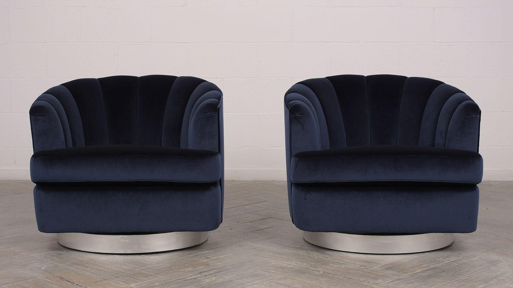 Mid-Century Moderne Drehsessel, 1960er, 2er Set