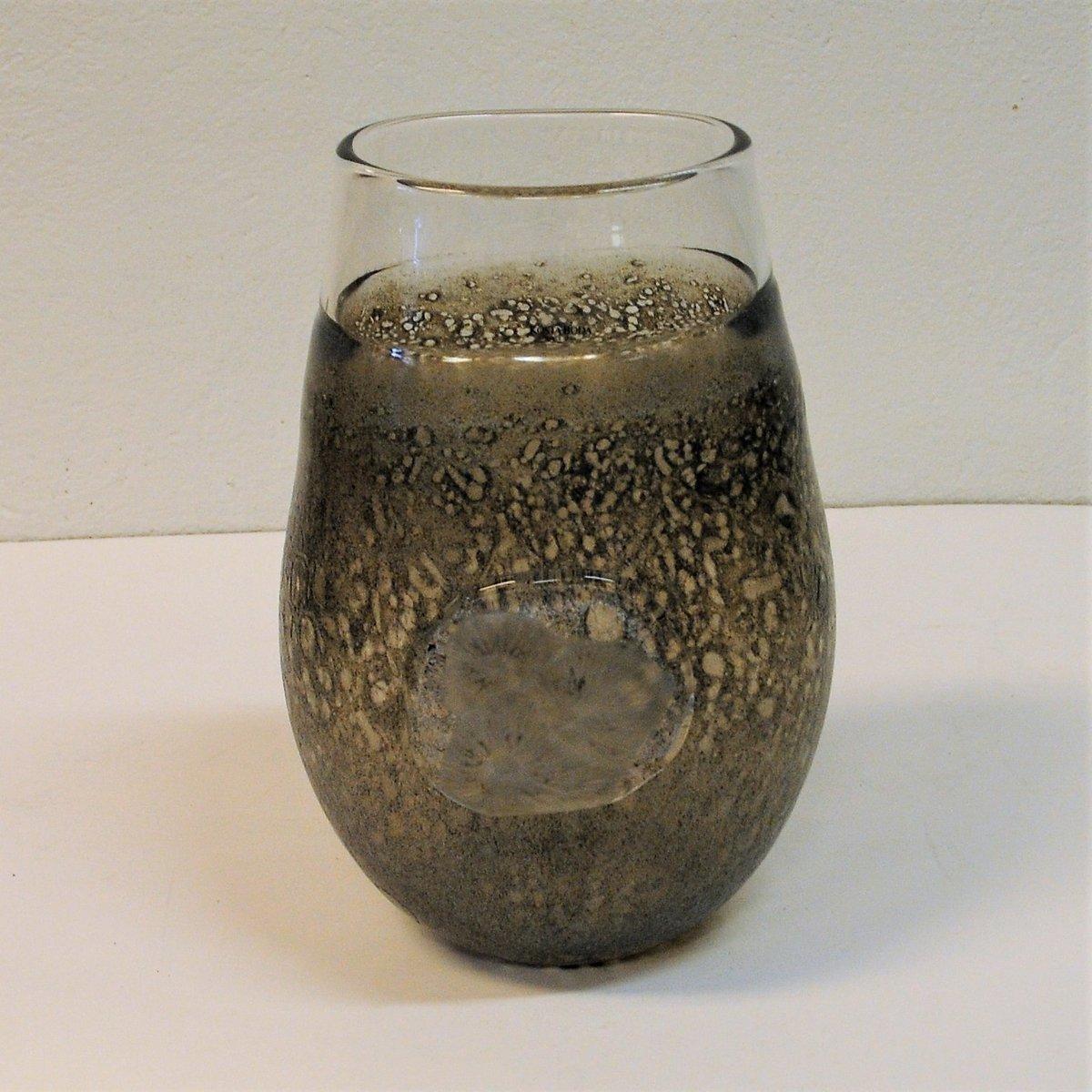 Vintage Fossil Art Glass Vase By Kjell Engman For Kosta