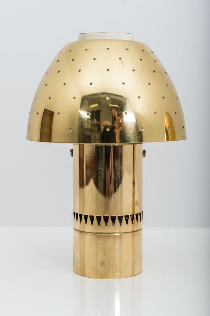 Schwedische Vintage Tischlampen aus perforiertem Messing von Hans-Agne...