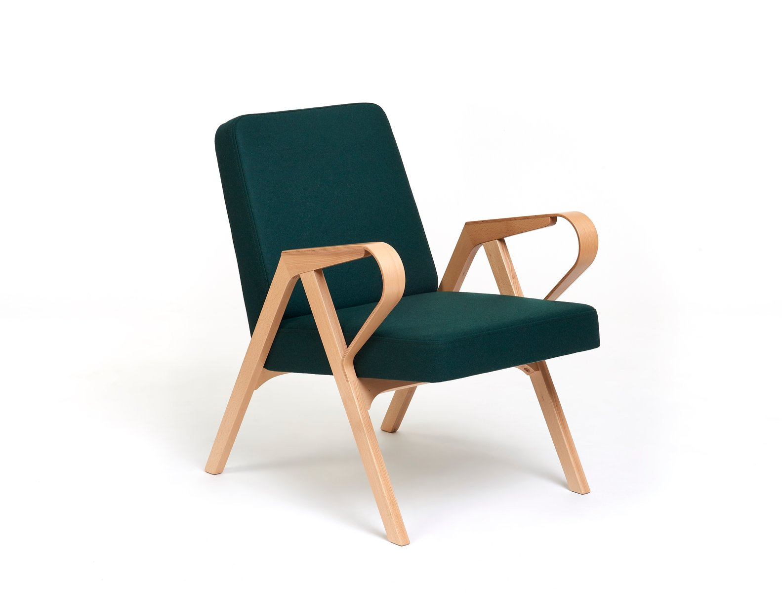 Aurora Polsterstuhl in grüner Wolle von Hunik Design