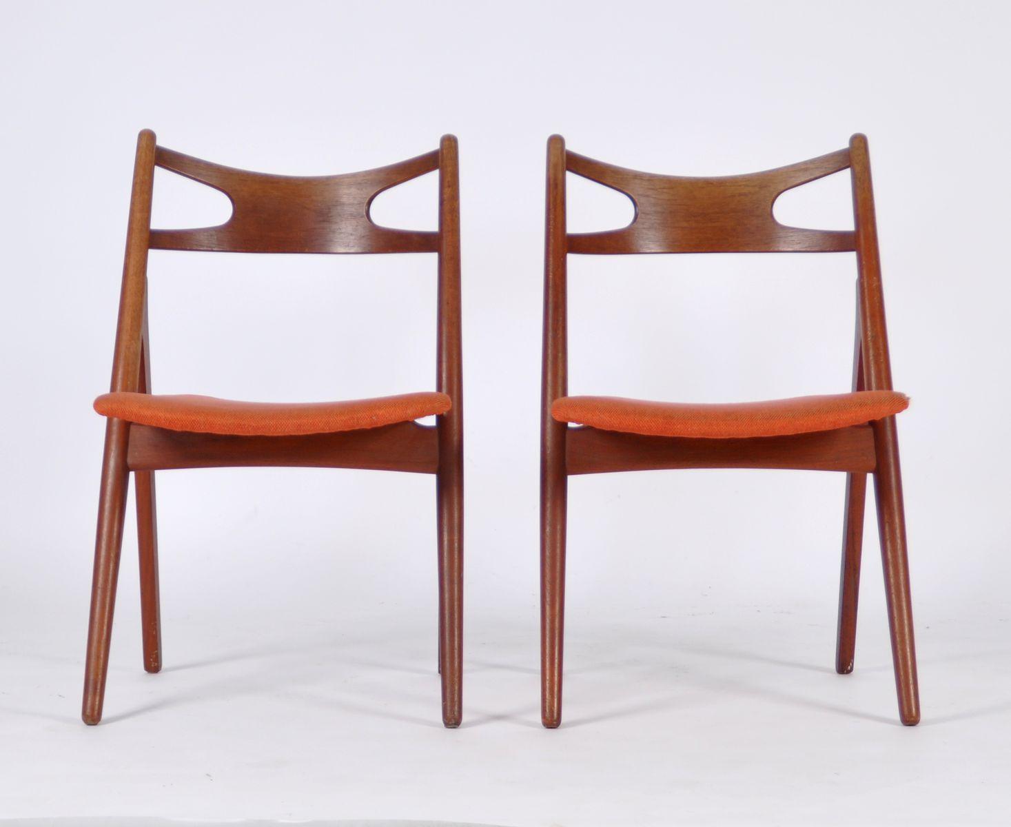 modell ch29 st hle von hans j wegner f r carl hansen s n 1950er 2er set bei pamono kaufen. Black Bedroom Furniture Sets. Home Design Ideas