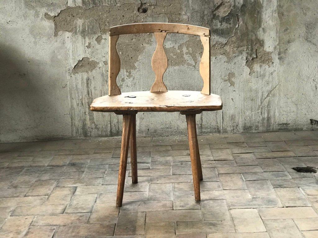 Antique Scandinavian Birch Chair