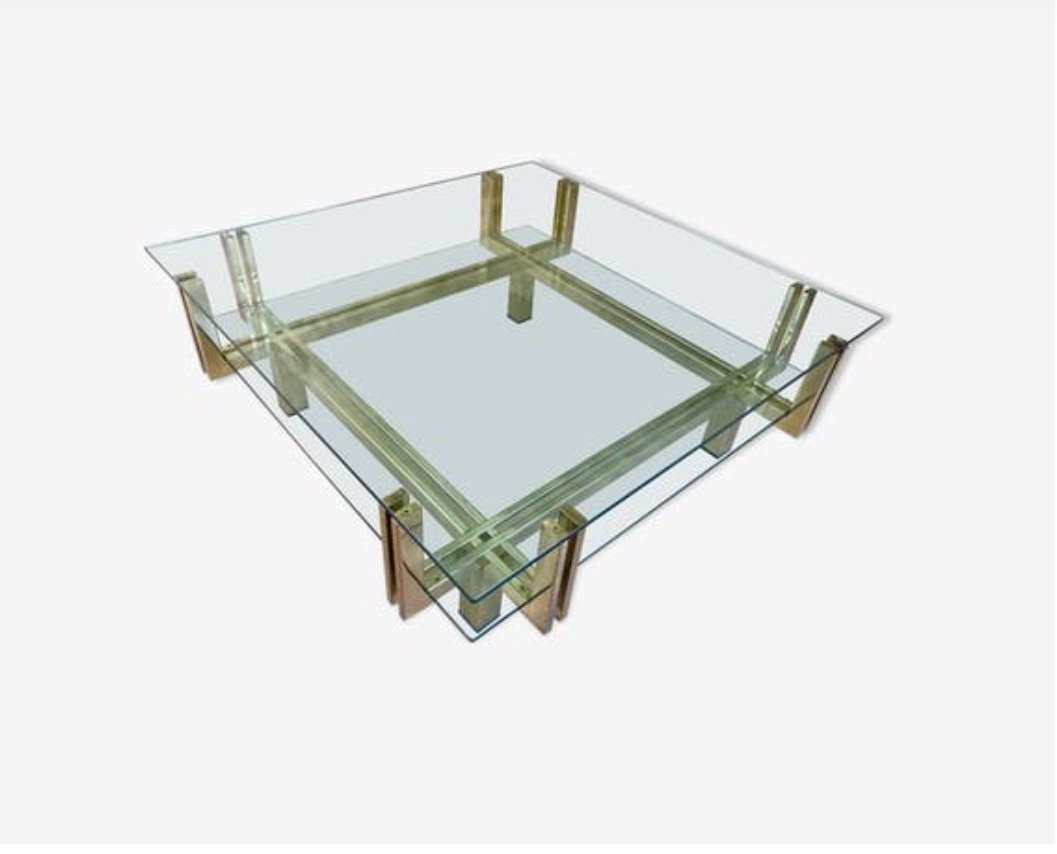 Großer niedriger Tisch, 1970er