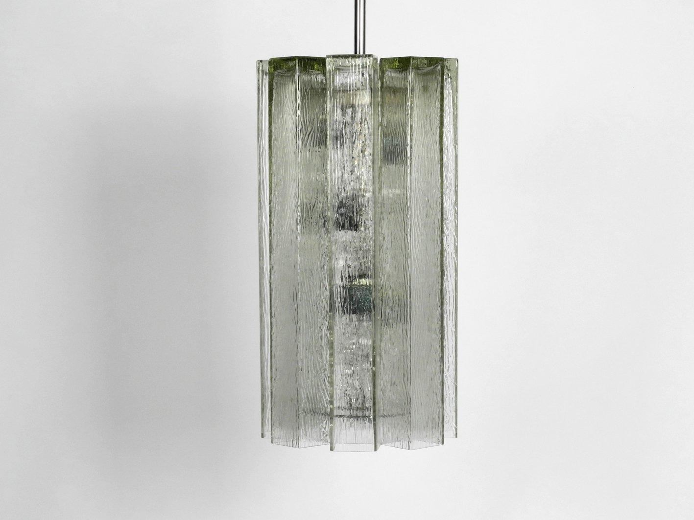 XXL Hängelampe aus Glas von Doria Leuchten, 1960er
