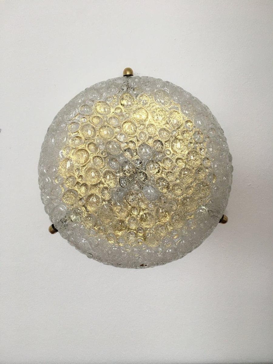 Vintage Deckenlampe aus Messing & Sideglas von Hillebrand Lighting, 19...