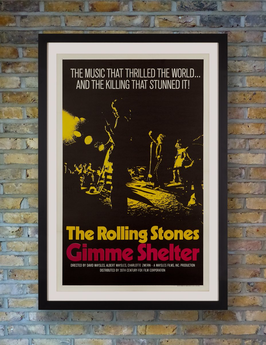 The Rolling Stones Gimme Shelter Plakat, 1970