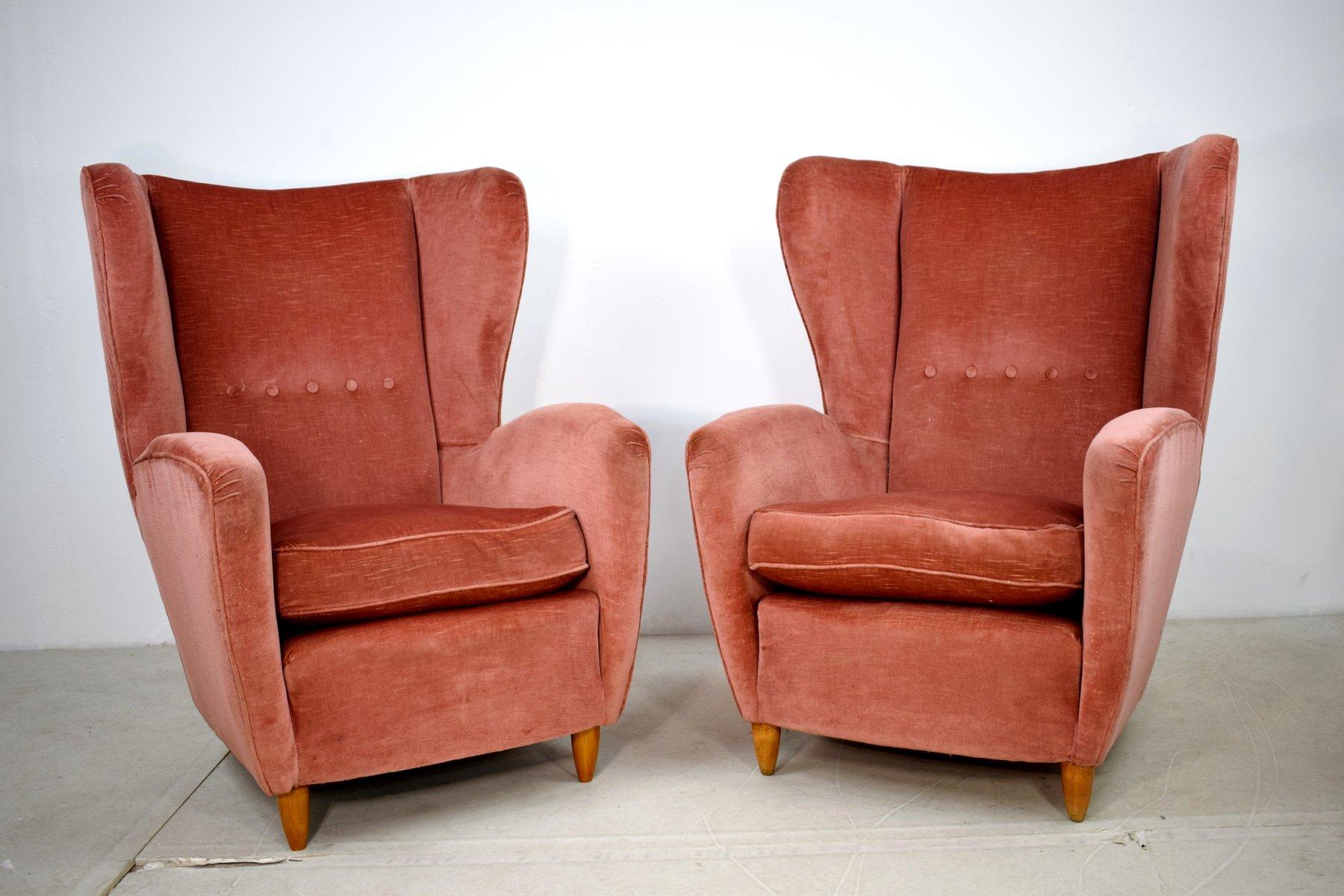 Beau Vintage Armchairs, 1950s, Set Of 2