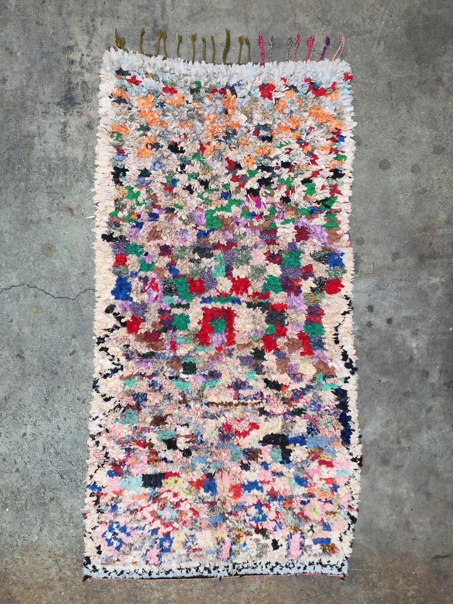 Boucherouite Berber Teppich, 1990er | Heimtextilien > Teppiche > Berberteppiche | Rot | Stoff